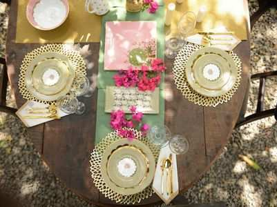 This luxury tableware makes for a perfect heirloom wedding gift