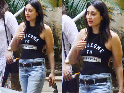 Kareena just flaunted a swimsuit with jeans