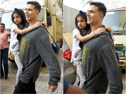Akshay steps out for a movie-date with Nitara