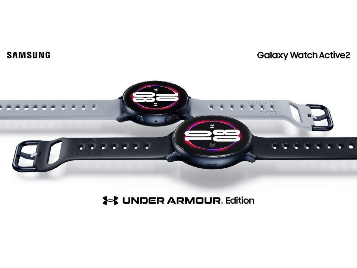 esta Movilizar baño  Galaxy Watch: Samsung Galaxy Watch Active 2 Under Armour Edition to go on  sale today | Gadgets Now