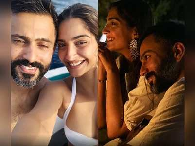 Pics of Sonam-Anand from their Maldives vacay
