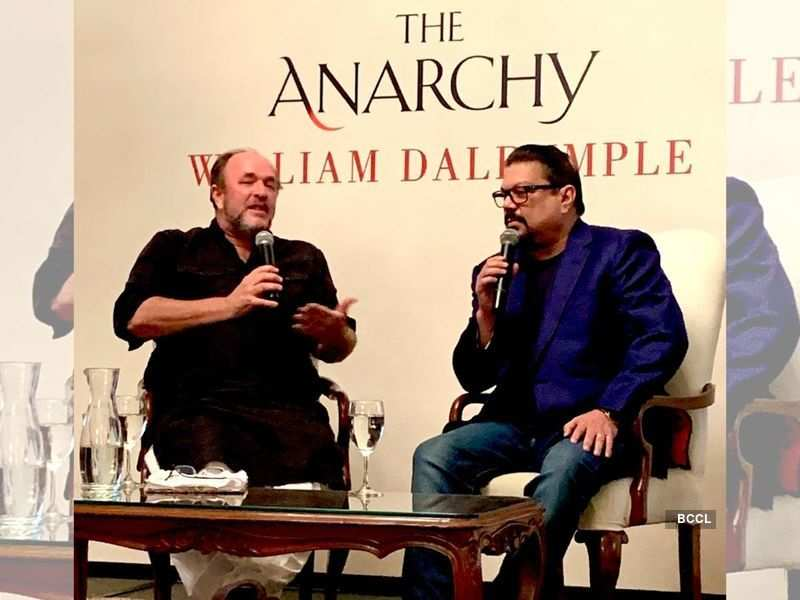 William Dalrymple and Vir Sanghvi at the book launch (Photo: Seema Goswami/ Twitter)