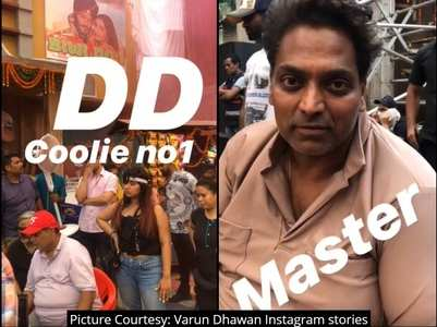 'Coolie No.1': Varun shares fun BTS videos