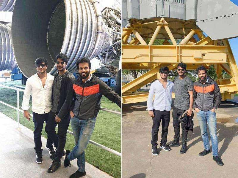 Nikhil, Sundeep Kishan and Aadarsh Balakrishna tour NASA