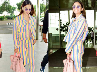 We love Alia Bhatt's denim jacket and matching mom jeans