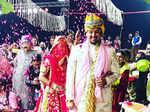 Inside pictures from Yeh Rishta Kya Kehlata Hai actress Mohena Kumari Singh's royal wedding