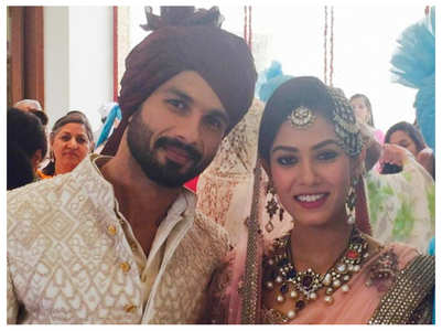 Unseen pictures from Shahid-Mira's wedding