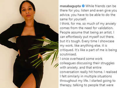 Masaba Gupta admits going for therapy; urges fans to open up and seek help