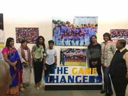 Women in blue hog the limelight at this do in Vadodara