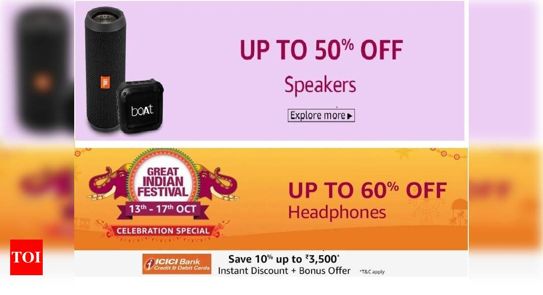 Ipads Boat Bluetooth Speakers Sennheiser Wireless Headphones At Up To 70 Off In Amazon Sale Most Searched Products Times Of India