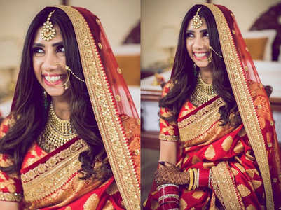 This Sabyasachi bride wore a Benarasi sari with a twist for her wedding!