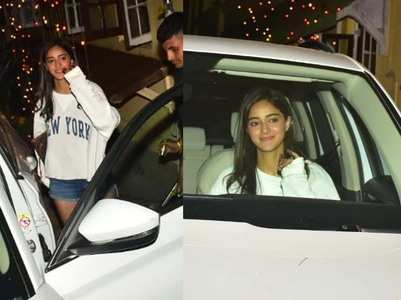 Ananya gets snapped post her shooting schedule