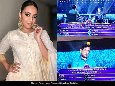 How Big B made Swara Bhasker really happy