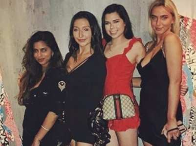 Suhana parties with her girl gang in NYC