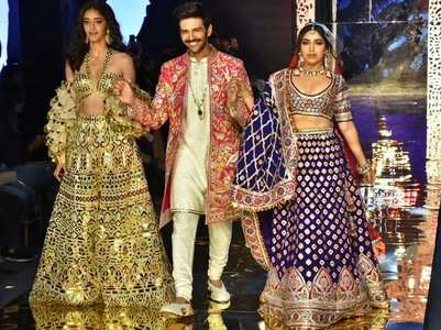 Pics: Kartik, Ananya & Bhumi turn showstoppers