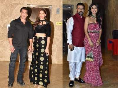 Salman & Saiee attend Ramesh's Diwali bash