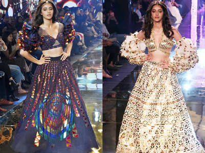 Ananya Panday owns the ramp like a queen in two sexy looks, see photos