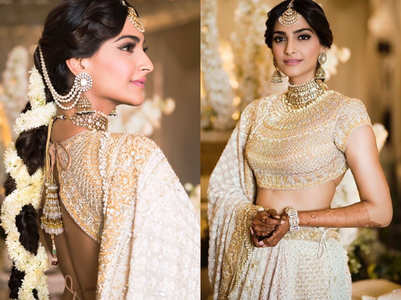 Pastel colours and sleek borders: Brides go for lightweight, comfortable lehengas