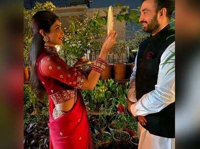 Shilpa Shetty's dreamy Karva Chauth pictures