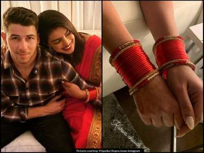 Pics: Priyanka's first Karwa Chauth with Nick