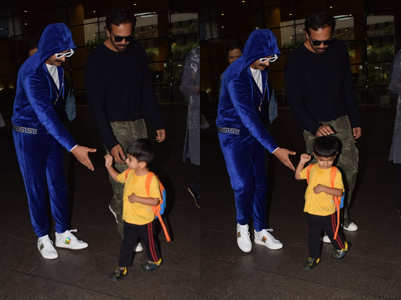 Pics: Ranveer ignored by a toddler at the airport