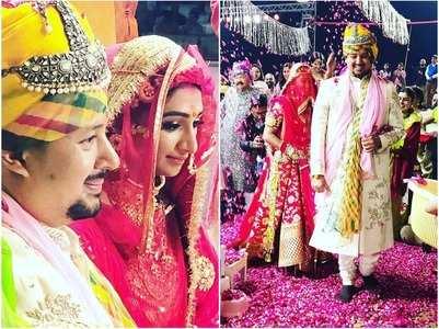 Mohena Kumari Singh shares unseen wedding pics