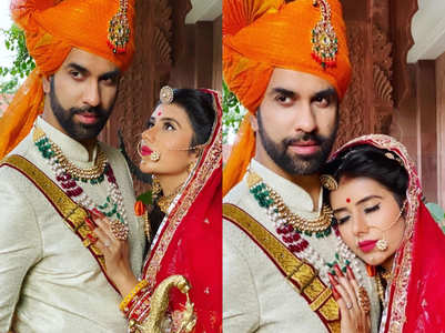 Charu, Rajeev look royal in Rajput ensembles