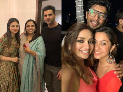 Divyanka, Reem attend pre-Diwali bashes