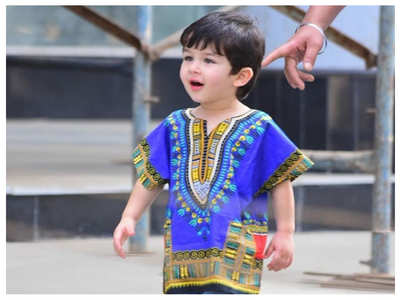 Watch: Taimur tells the paps 'excuse me'