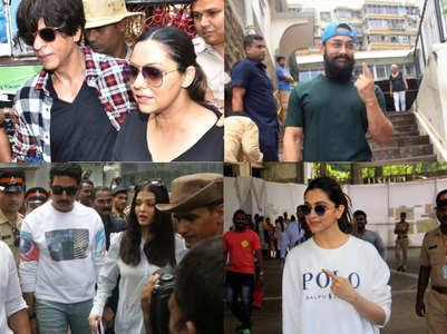 Bollywood celebs cast their vote