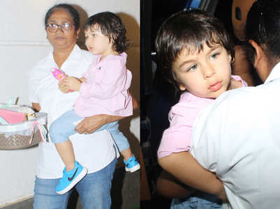 We are crushing on Taimur Ali Khan's cool blue sneakers