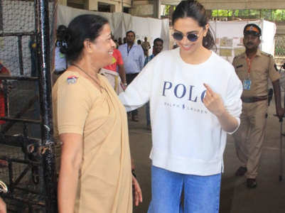 Deepika is all smiles after casting her vote