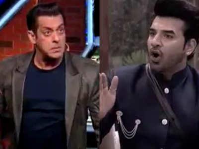 When host Salman Khan got angry in Bigg Boss