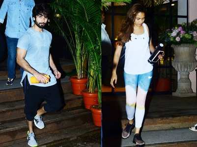 Shahid-Mira snapped post their workout session