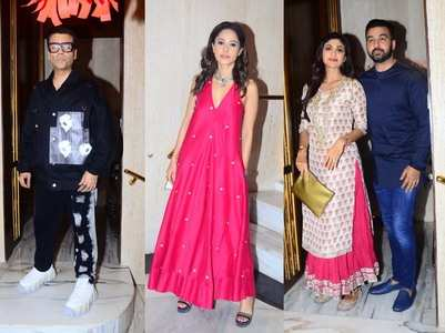 Celebs attend Manish Malhotra's Diwali bash
