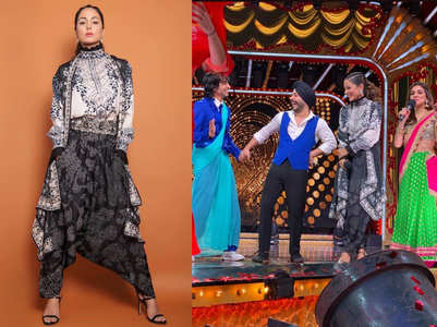 Hina Khan graces the sets of Nach Baliye 9