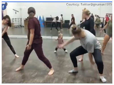 Need fitness motivation? You have to attend a fitness class with this toddler