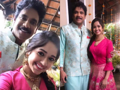 Jannat shoots an ad with South actor Nagarjuna