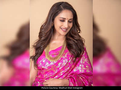 Madhuri looks exquisite in THIS pink saree