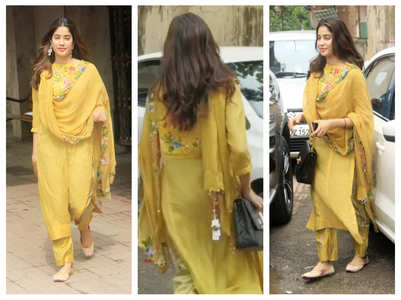 Janhvi spotted wearing dupatta with price tag