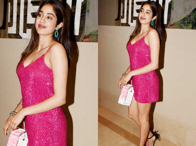 Guess the price of Janhvi Kapoor's hot pink mini dress