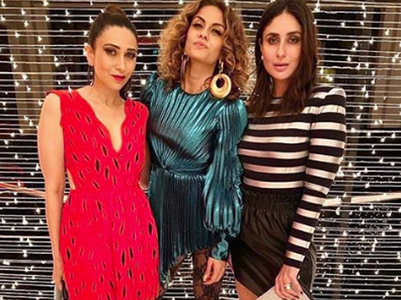 Karisma-Kareena dazzle at Malaika's bash