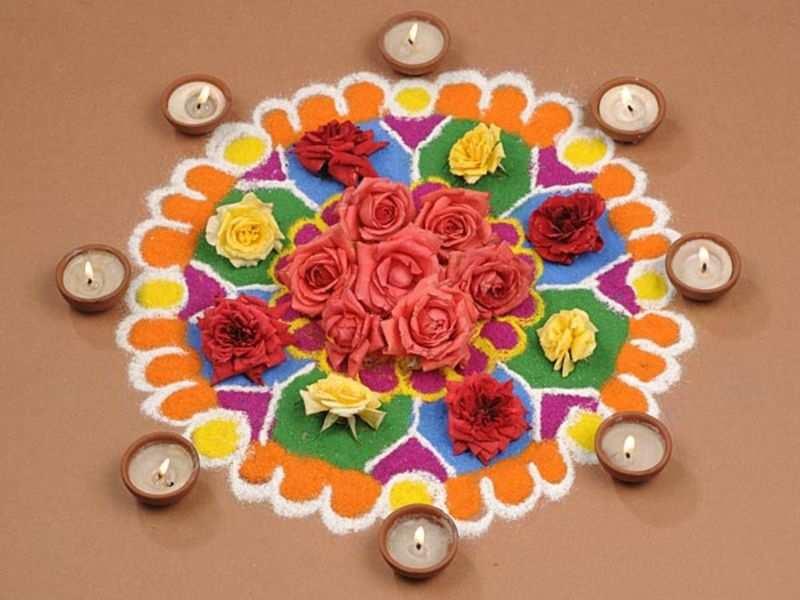 Diwali Rangoli Designs Here Are 10 Unique Flower Rangoli Designs To Try This Diwali Times Of India,Green Plain Saree With Designer Blouse Images