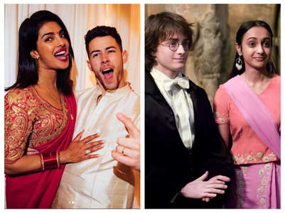 LOL!Harry Porter twist to Nick's Karva Chauth