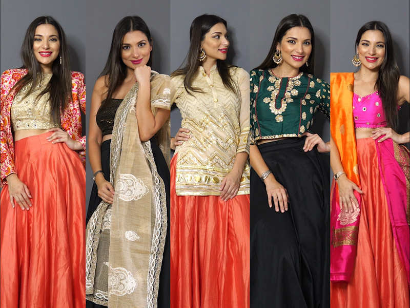 Diwali 2019 5 Sexy Ways To Wear An Ethnic Skirt Times Of India