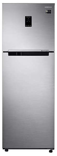 Samsung 345 L 3 Star Frost Free Double-Door Refrigerator (RT37M5538SL/HL, Real Stainless, Inverter Compressor)
