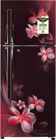 LG 260 L 4 Star Inverter Frost-Free Double-Door Refrigerator (GL-T292RSPN, Scarlet Plumeria)