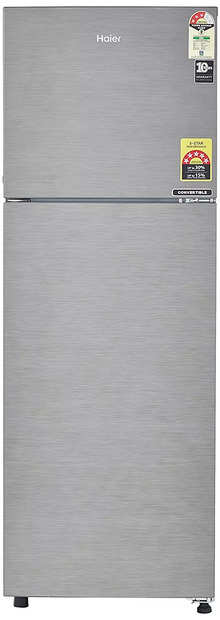 Haier 258 L 3 Star Frost-Free Double-Door Refrigerator (HEF-25TDS, Dazzle Steel/Brushline silver,Swift Convertible)