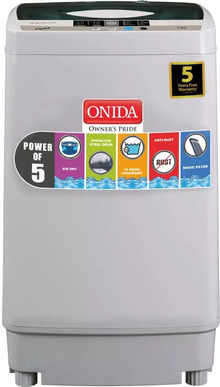 Onida 6.2 Kg Fully Automatic Top Load Washing Machine Grey (T62CGN / CRYSTAL 62)