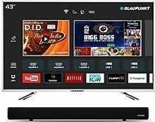 Blaupunkt 109cm 43-inch Full HD LED Smart TV with External Soundbar BLA43AS570
